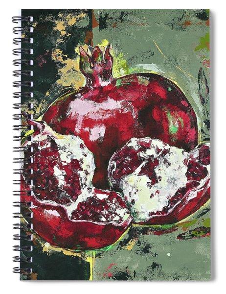 Split Pomegranate Spiral Notebook