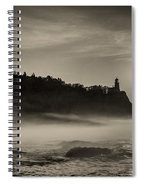 Split Rock Lighthouse Emerging Fog Spiral Notebook