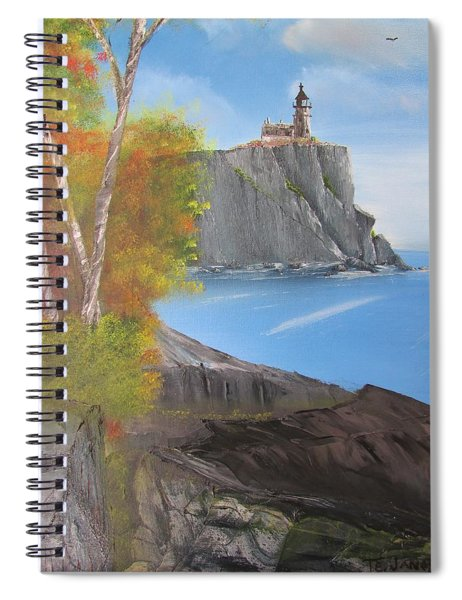 Split Rock Lighthouse Minnesota Spiral Notebook