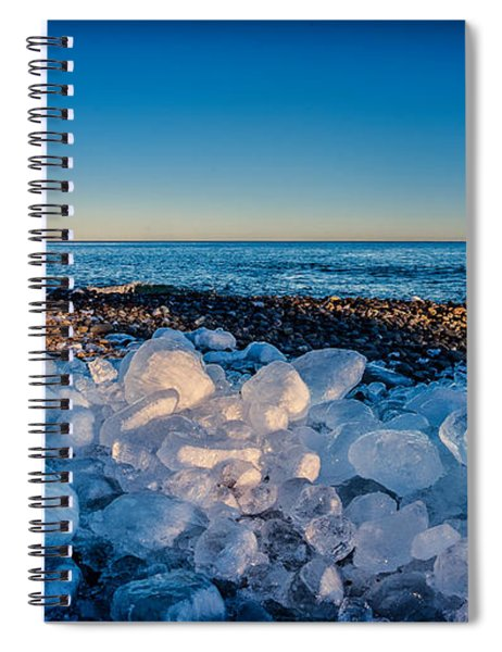 Split Rock Lighthouse With Ice Balls Spiral Notebook