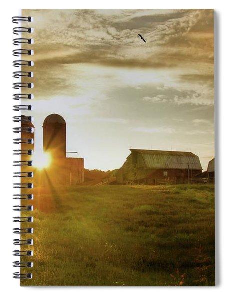 Split Silo Sunset Spiral Notebook
