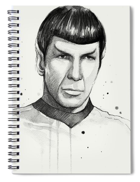 Spock Watercolor Portrait Spiral Notebook