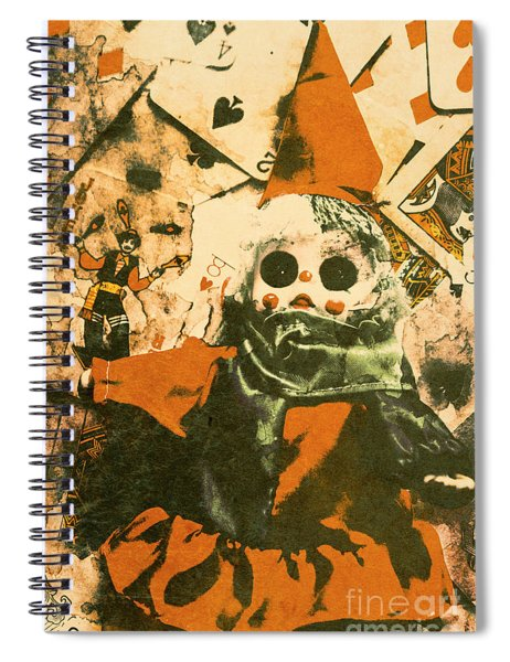 Spooky Carnival Clown Doll Spiral Notebook