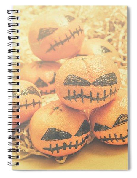 Spooky Halloween Oranges Spiral Notebook