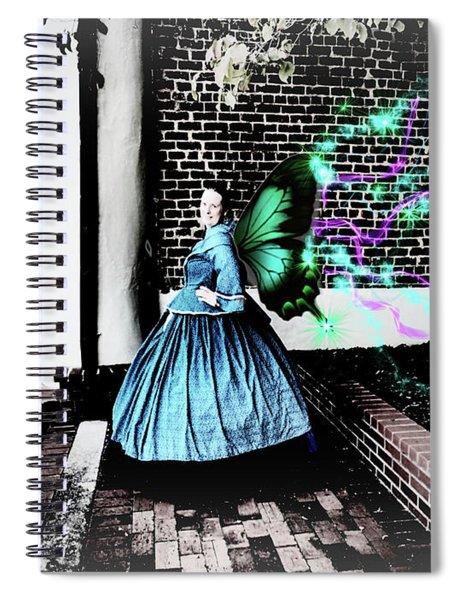 Spooky Historic Butterfly Dahlonega  Spiral Notebook