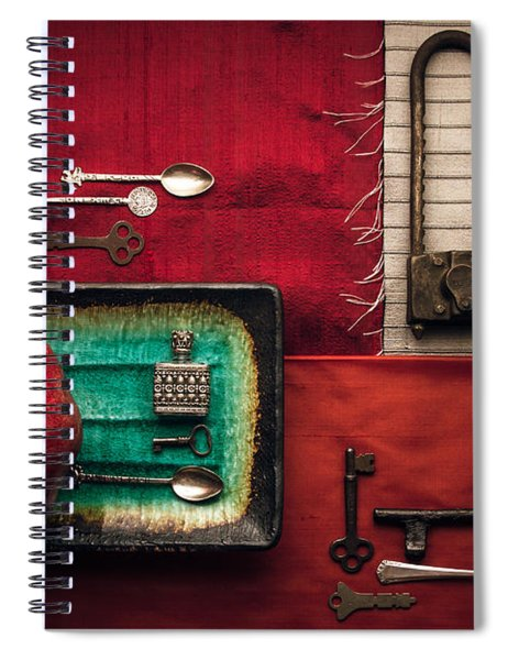 Spoons, Locks And Keys Spiral Notebook