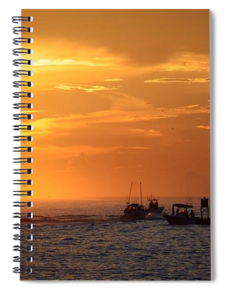 Sportfishermen Head Offshore Spiral Notebook