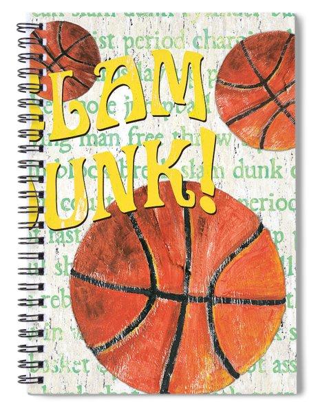 Sports Fan Basketball Spiral Notebook by Debbie DeWitt