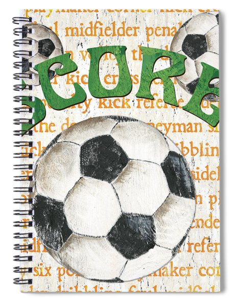 Sports Fan Soccer Spiral Notebook