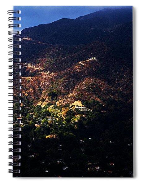 Spotlight From The Heavens Spiral Notebook