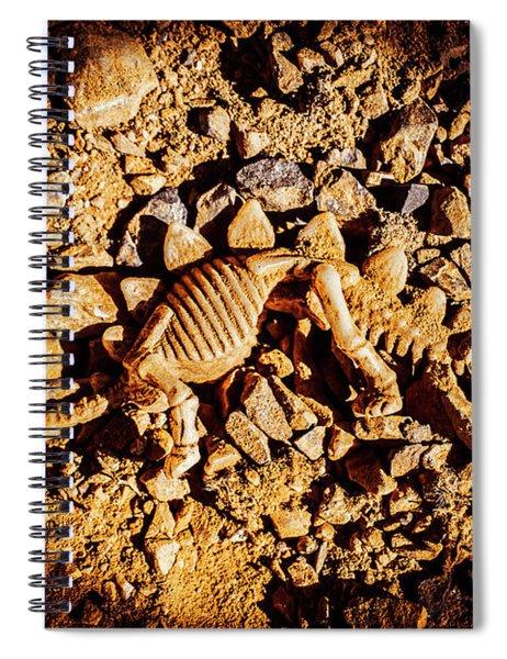 Spotlight On A Extinct Stegosaurus Spiral Notebook