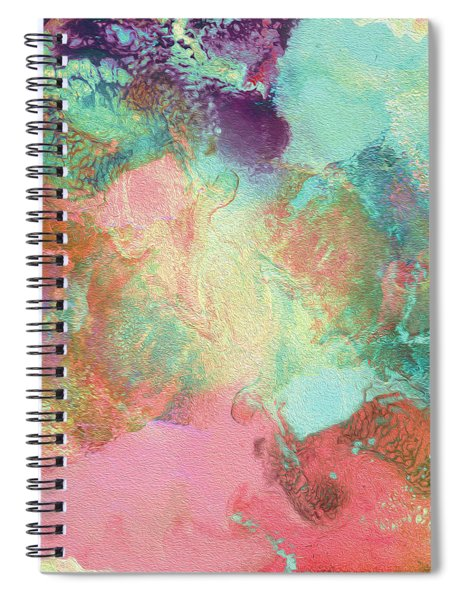 Spring Abstract Painting Spiral Notebook