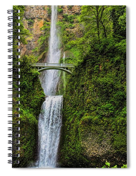 Spring At Multnomah Falls Spiral Notebook