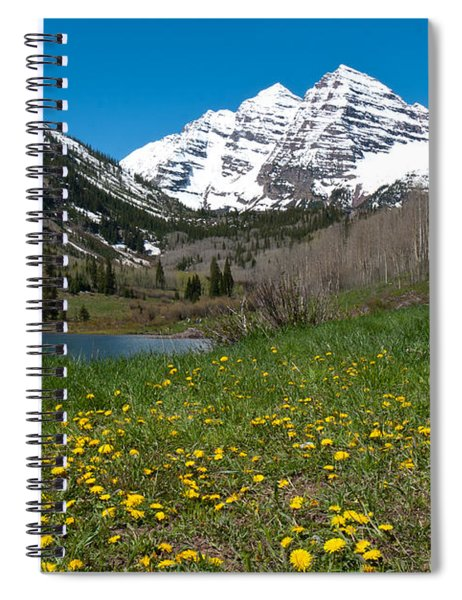 Spring At The Maroon Bells Spiral Notebook