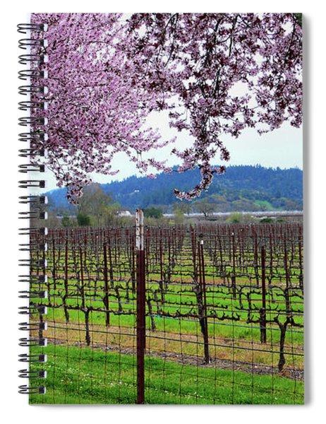 Spring Blossoms Near Calistoga Spiral Notebook