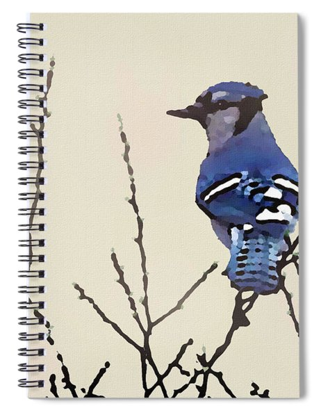 Spring Bluejay Spiral Notebook