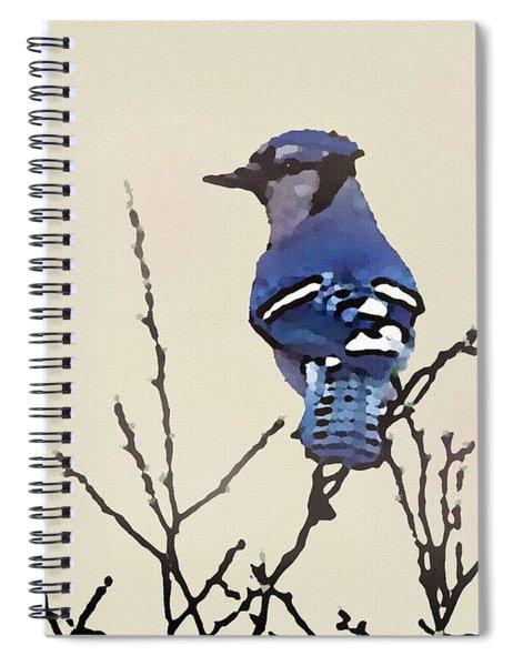 Spring Bluejay Spiral Notebook