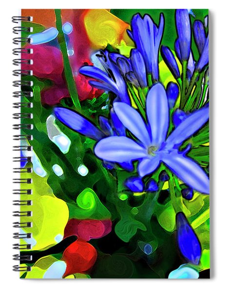 Spiral Notebook featuring the digital art Spring Bouquet by Gina Harrison