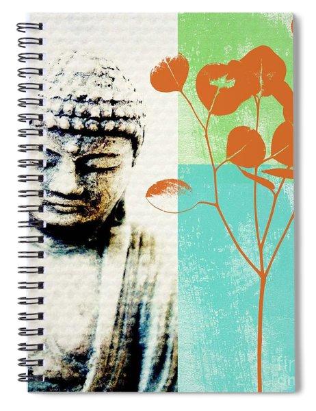 Spring Buddha Spiral Notebook by Linda Woods