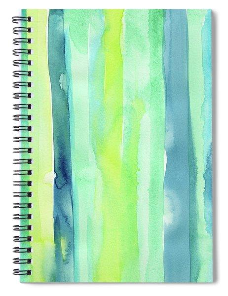 Spring Colors Stripes Pattern Vertical Spiral Notebook