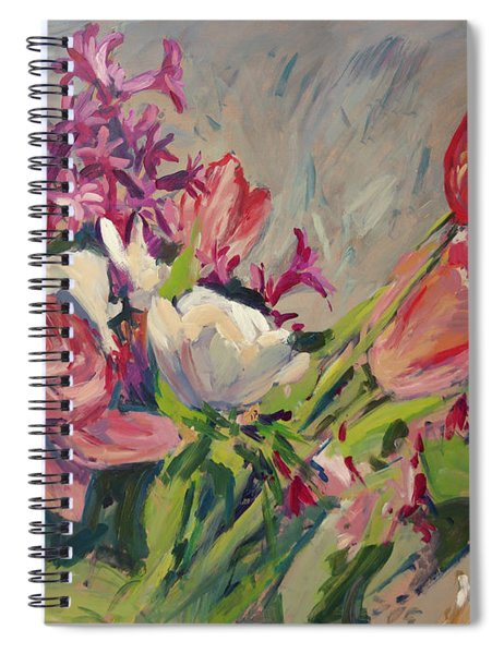 Spring Flowers Bouquet Spiral Notebook