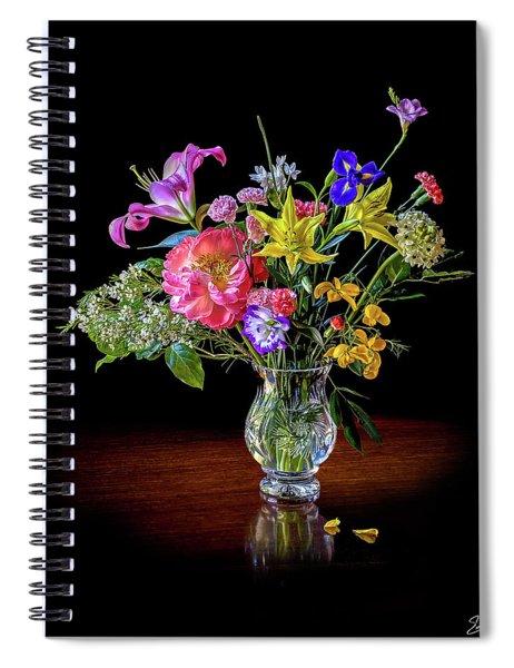 Spring Flowers In A Crystal Vase Spiral Notebook