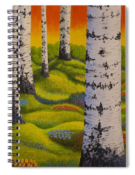 Spring Forest Spiral Notebook