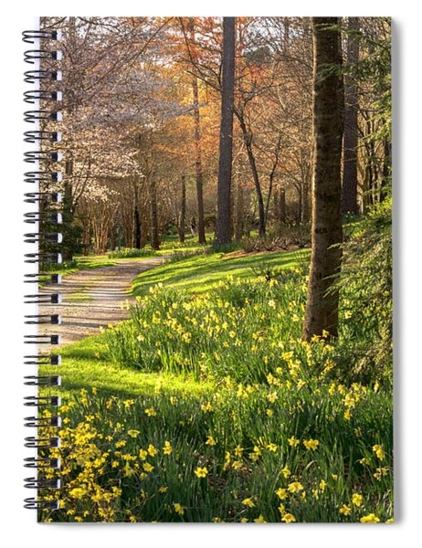 Spring Garden Path Spiral Notebook