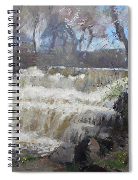 Spring In Williamsville Falls Spiral Notebook