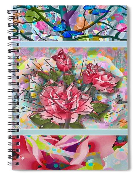 Spiral Notebook featuring the digital art Spring Medley by Eleni Mac Synodinos