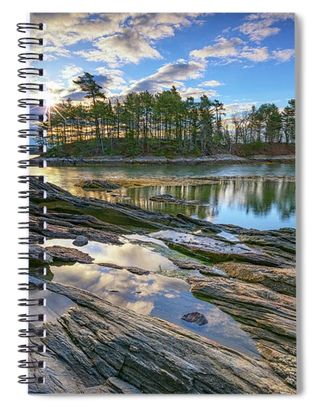 Spring Morning At Wolfe's Neck Woods Spiral Notebook
