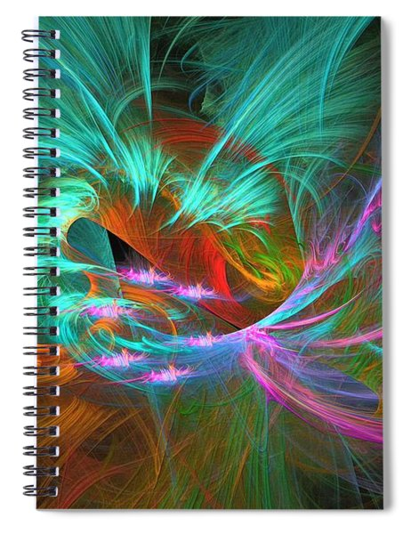 Spring Riot - Abstract Art Spiral Notebook