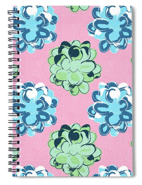 Spring Succulents- Art By Linda Woods Spiral Notebook