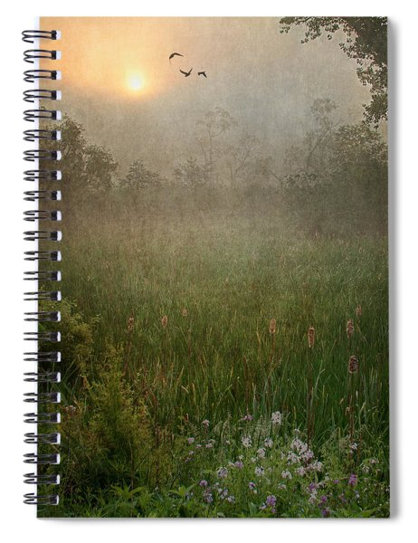 Spring Sunrise In The Valley Spiral Notebook