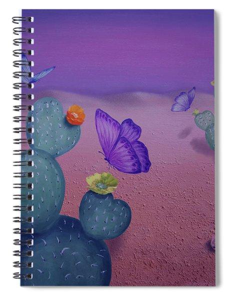Spring Sunset On The Desert  Spiral Notebook