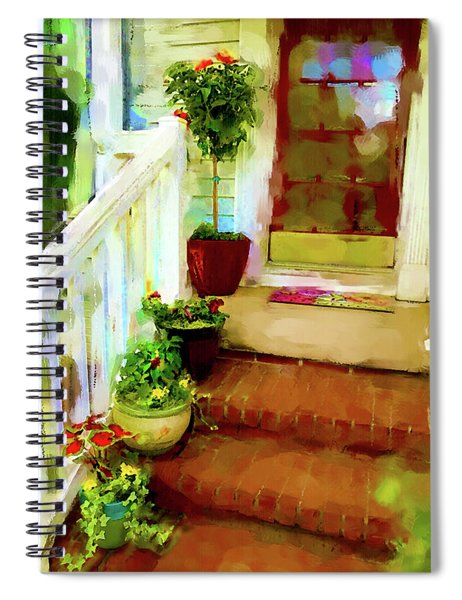 Spiral Notebook featuring the digital art Spring Welcome by Gina Harrison