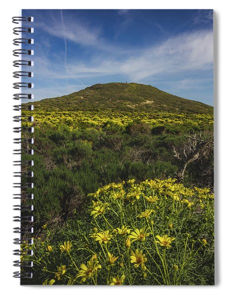 Spring Wildflowers Blooming In Malibu Spiral Notebook