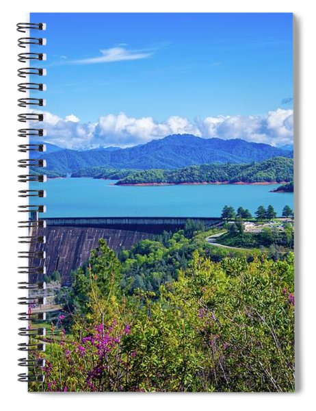 Springtime At Shasta Lake Dam Spiral Notebook