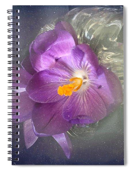 Springtime Crocus Spiral Notebook
