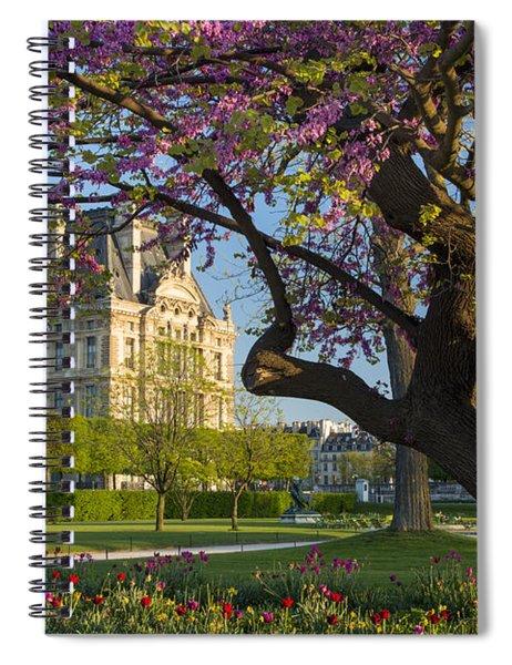 Springtime In Paris Spiral Notebook by Brian Jannsen