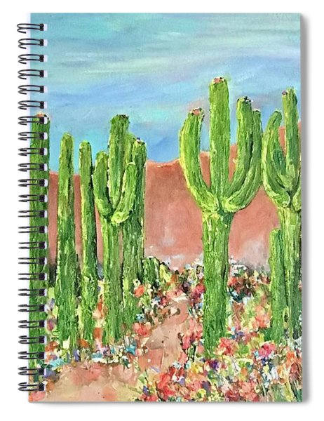 Springtime In The Desert Spiral Notebook