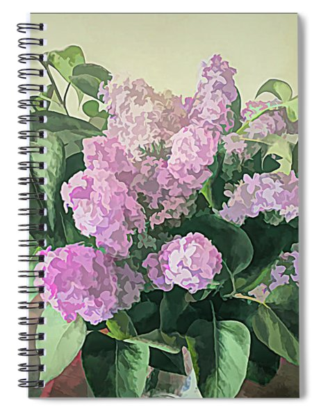 Springtime Lilacs Spiral Notebook