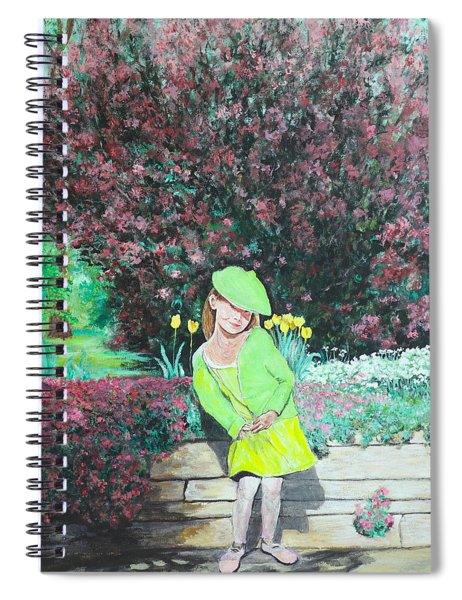 Springtime On Iris Spiral Notebook