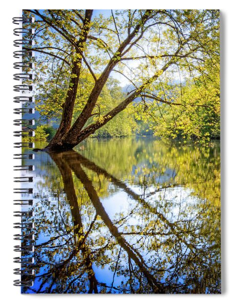 Springtime Yellows And Blues Spiral Notebook