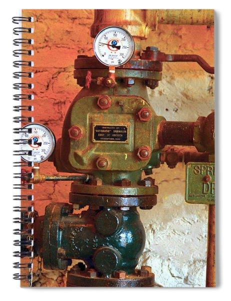 A Spinkle In Time Sprinkler Guages Spiral Notebook