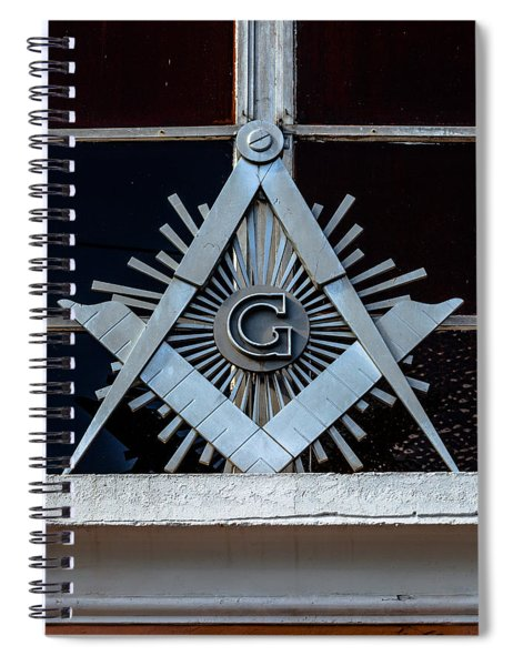 Square And Compass Spiral Notebook