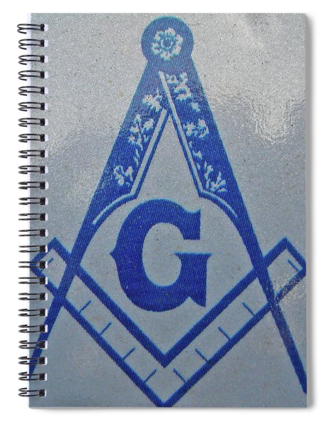 Square And Compasses #005 Spiral Notebook