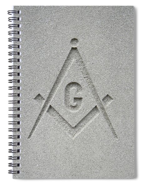 Square And Compasses #009 Spiral Notebook