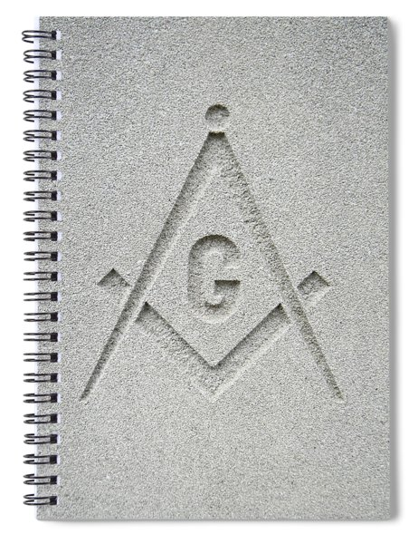 Square And Compasses #010 Spiral Notebook