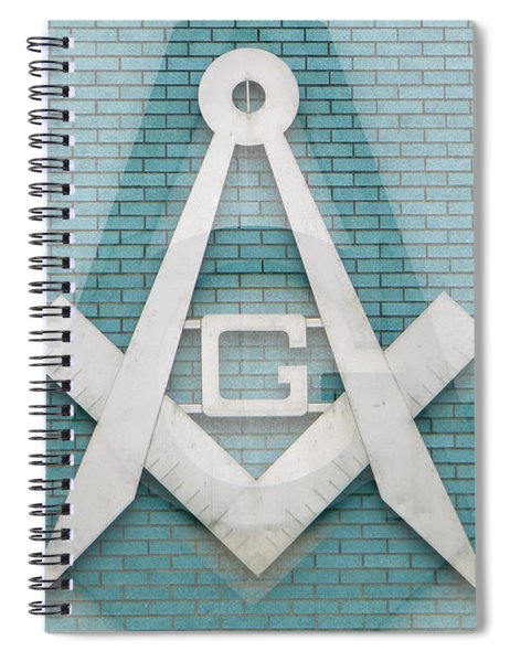 Square And Compasses #012 Spiral Notebook